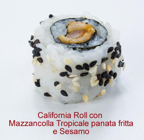 California Roll con mazzancolla tropicale panata fritta e sesamo - Sushi classic