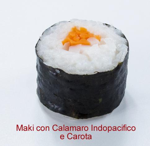 Maki con calamaro indopacifico e carota - Sushi classic