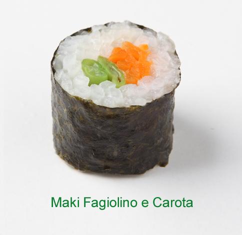 Maki fagiolino e carota - Sushi vegetariano