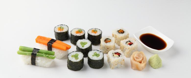 Sushi verdure